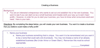 Creating a Business Project (VA SOL Friendly)