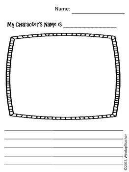 Creating a Character Center Activity  * Reproducible * Partly editable