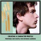 Creating a Character Profile Google Drive Digital Resource #TpTDigital