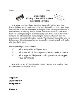 Creating a Circuit Informative Writing