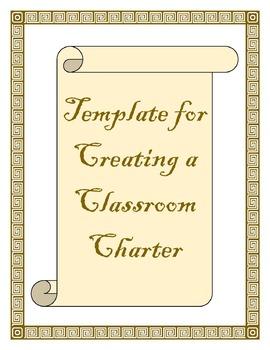 Creating a Classroom Charter Template - Editable