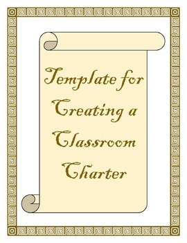 Creating a Classroom Charter Template - Editable