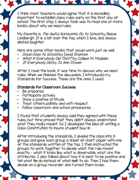 Creating a Classroom Constitution