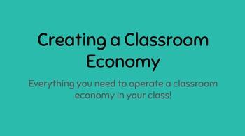 Creating a Classroom Economy