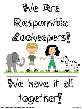 Back to School Classroom Management (Zoo Animal Theme)