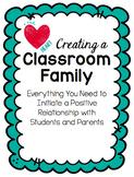 Creating a Classroom Family EDITABLE