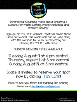 Creating a Climate for Problem Solving!  A FREE Webinar and Workbook