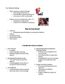 How to Create a Comprehensive Anti-Bullying Program: Handout