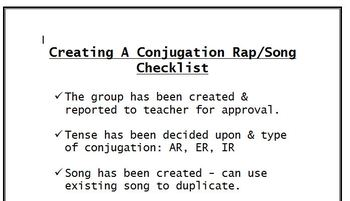 Creating a Conjugation Rap/Song Project - Any Level - Any Language