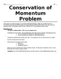 Creating a Conservation of Momentum Problem