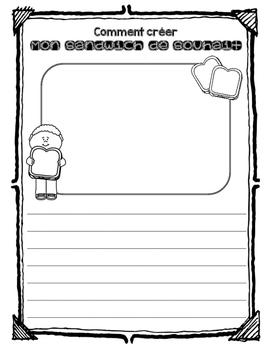 Creating a Dreamy Sandwich - French Procedural Writing