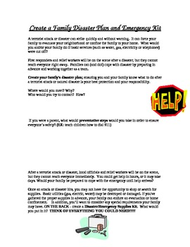 Creating a Family Emergency Kit