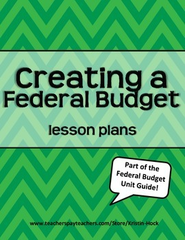 Creating a Federal Budget lesson plans
