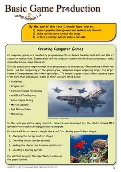 Creating a Fun Computer Game using Scratch