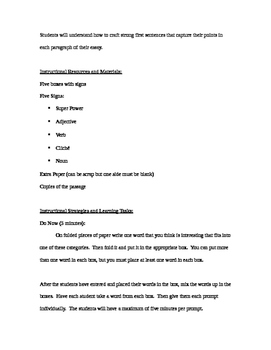 Creating a Good First Sentence Lesson Plan