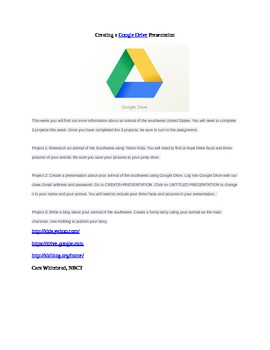 Creating a Google Drive Presentation