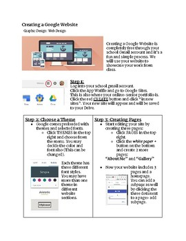 Creating a Google Website