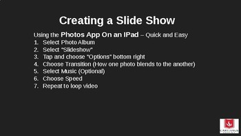 Creating a Great Slide Show on an iPad