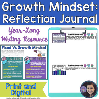 Creating a Growth Mindset: #WordsofWisdom Year-Long Reflection Journal
