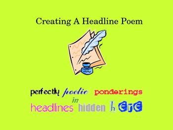 Creating a Headline Poem