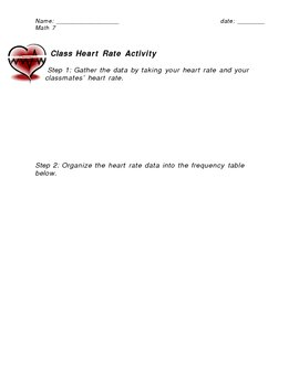 Creating a Histogram using Students' Heart Rates