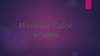 Creating a Mandala Inspired Color Wheel