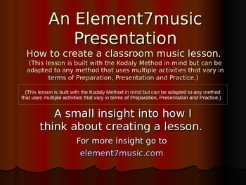 Creating a Music Lesson for Young Students