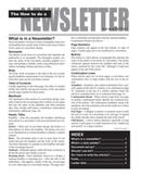 Creating a Newsletter Assignment