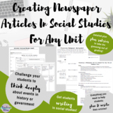 Creating a Newspaper Article For Any Social Studies Unit