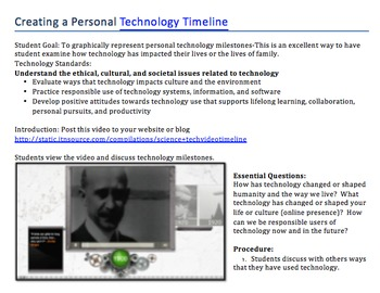 Creating a Personal Technology Timeline: Grades 5-8
