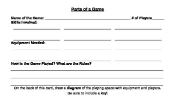 Creating a Physical Education Game (PE and ELA)