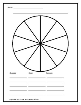 Creating a Pie Chart for a Survey Data Set or Other Assignment