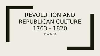 Creating a Republican Culture 1790 - 1820