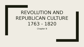 Creating a Republican Culture 1790 - 1820