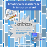 Creating a Research Paper in Microsoft Word