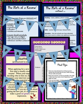 Creating a Resume PowerPoint, PDF, Jpeg Formats