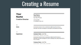 Creating a Resume with Template