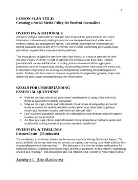 Creating a SOCIAL MEDIA POLICY for Student Journalists