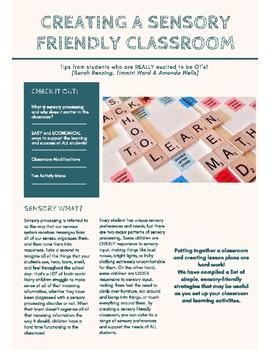 Creating a Sensory Friendly Classroom
