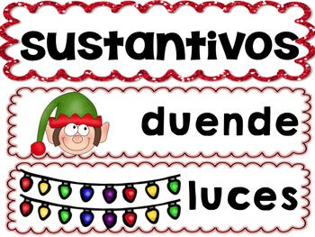 Creating a Sentence with Parts of Speech for DECEMBER in SPANISH