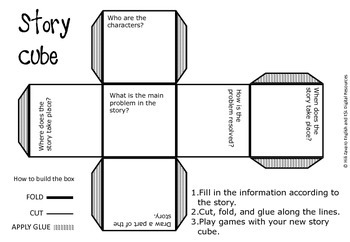 Creating a Story Cube - Who/what/where/when.. Graphic Organizer