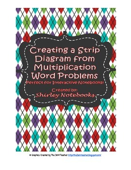 Creating a Strip Diagram from Multiplication Word Problems Interactive Notebook