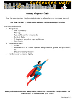 Creating a Superhero Comic