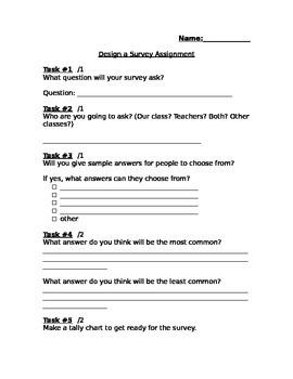 Creating a Survey & Bar Graph