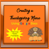 Thanksgiving Computer Activity - Creating a Thanksgiving M