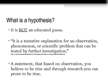 Creating A Thesis/ Hypothesis By Mrs Robey | Teachers Pay Teachers