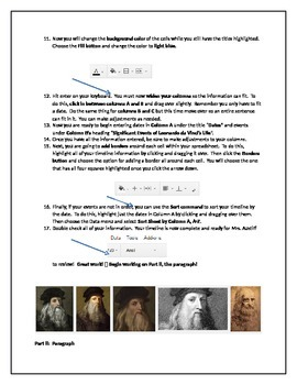 Creating a Timeline in Google Docs