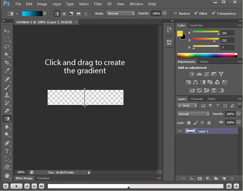Creating a button in Photoshop