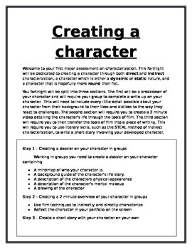 Creating a character assignment