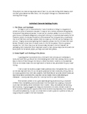 Creating a character with character analysis, activities a
